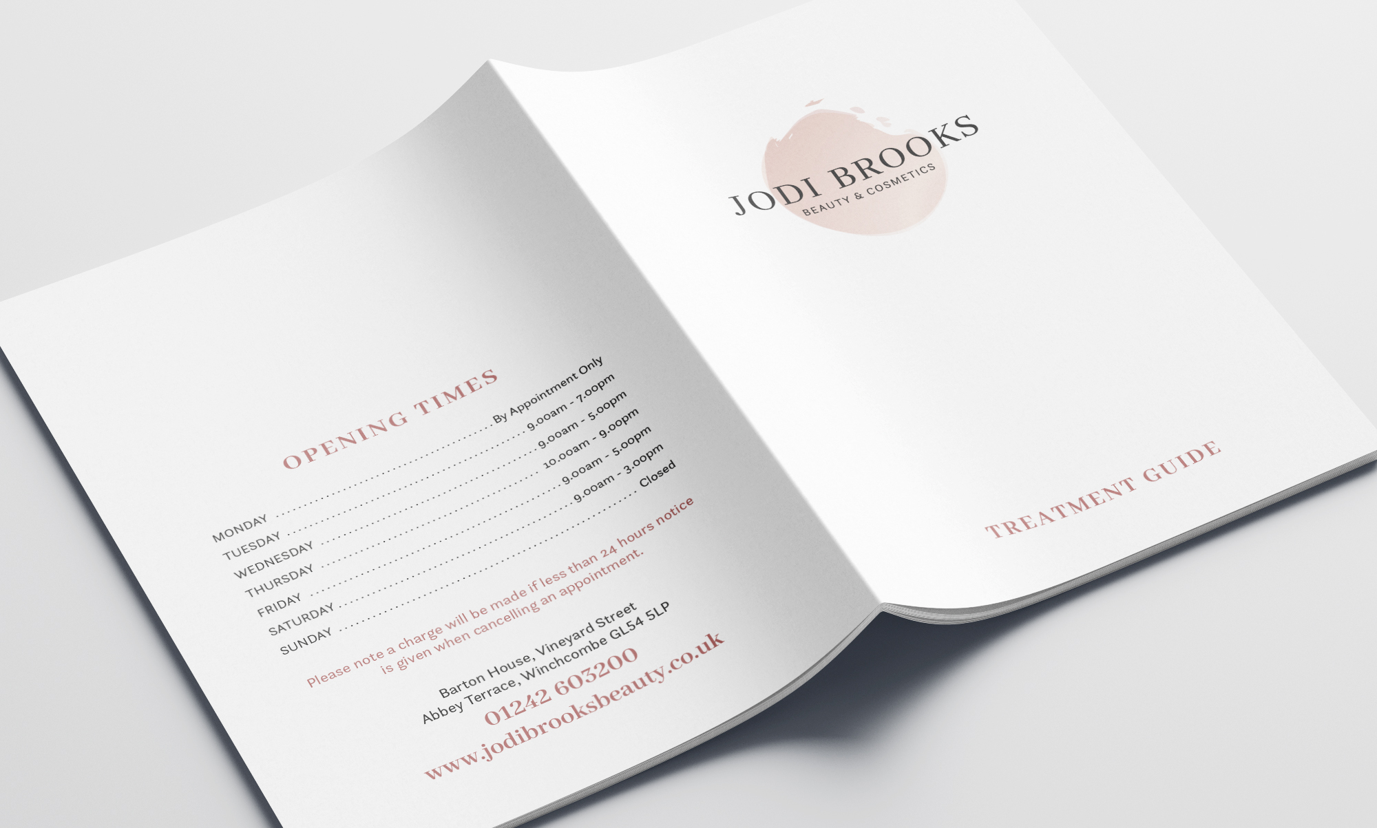 Price List Cover Design