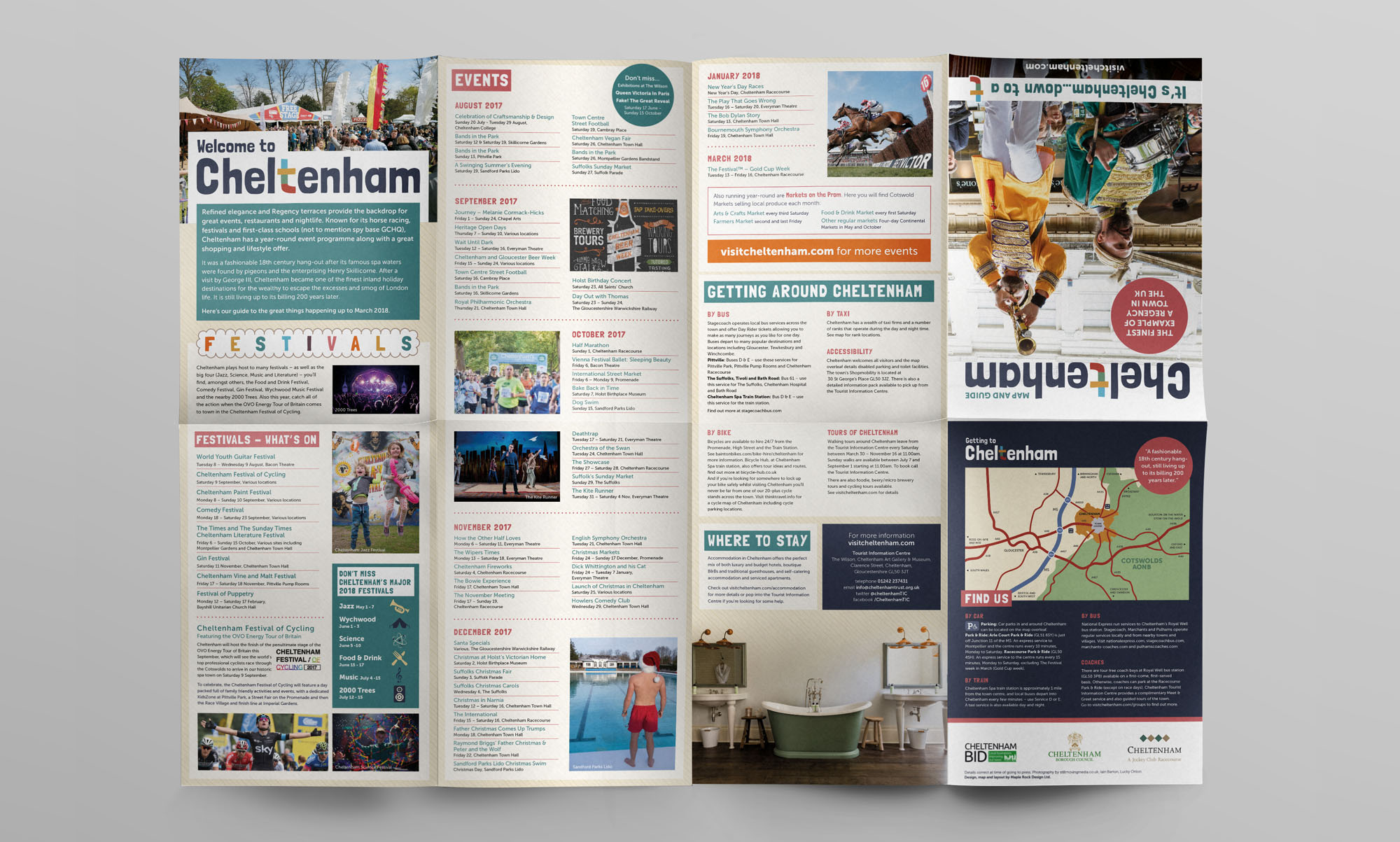 Cheltenham Tourism Map Design