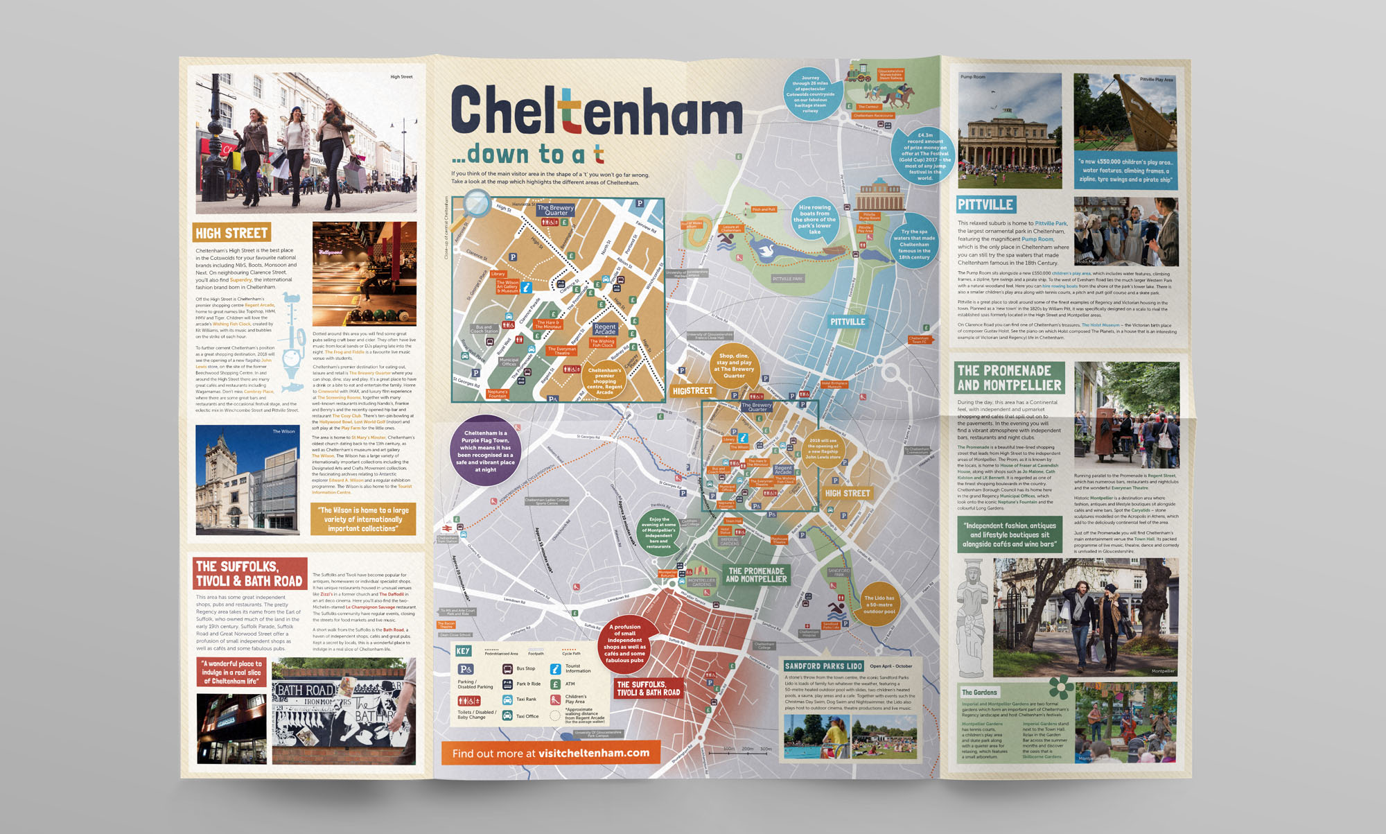 Cheltenham Tourism Map Design
