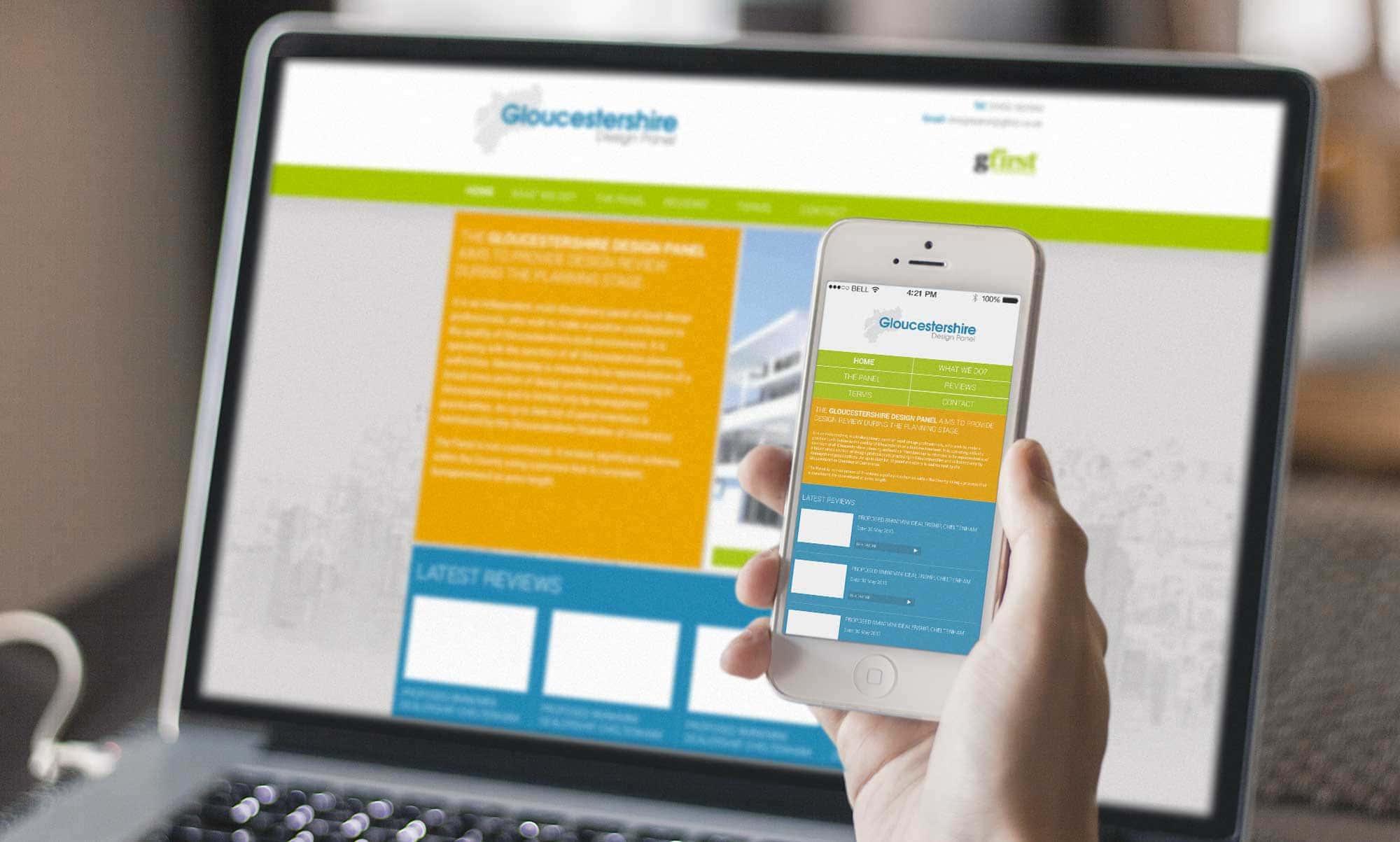 Gloucestershire Design Panel responsive website