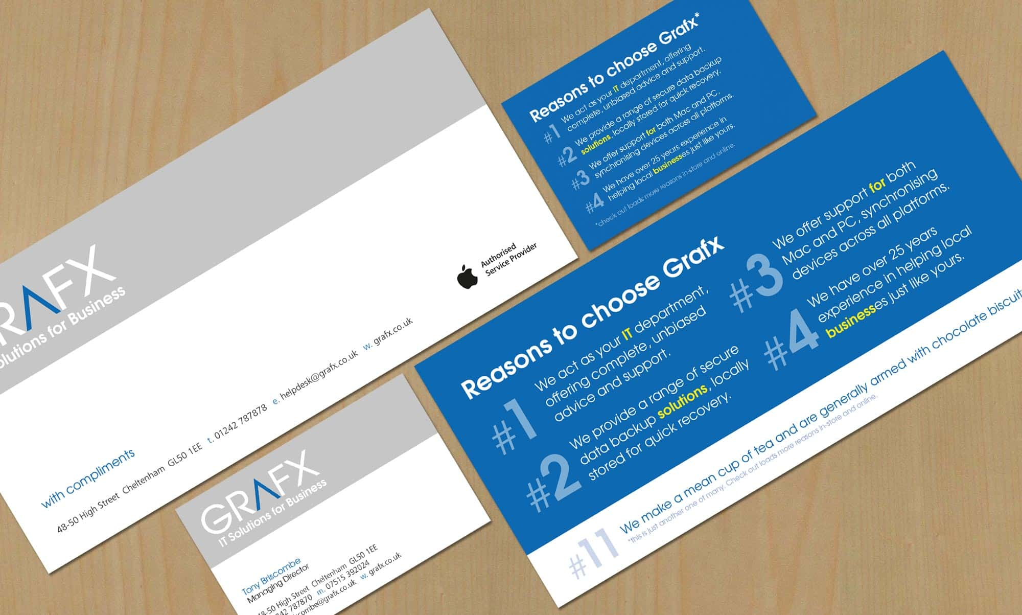 Company Stationery (Business Card & Complement Slip)
