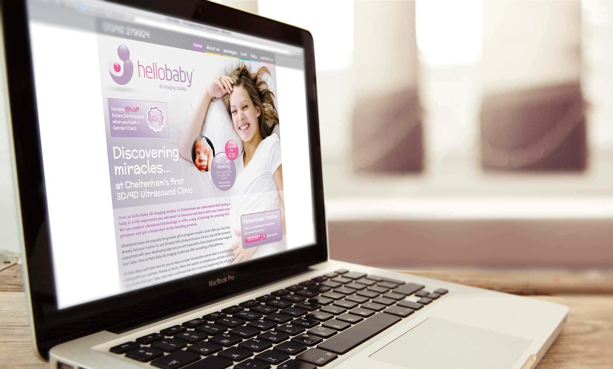 Custom Content Managment Creation - Hello Baby Website