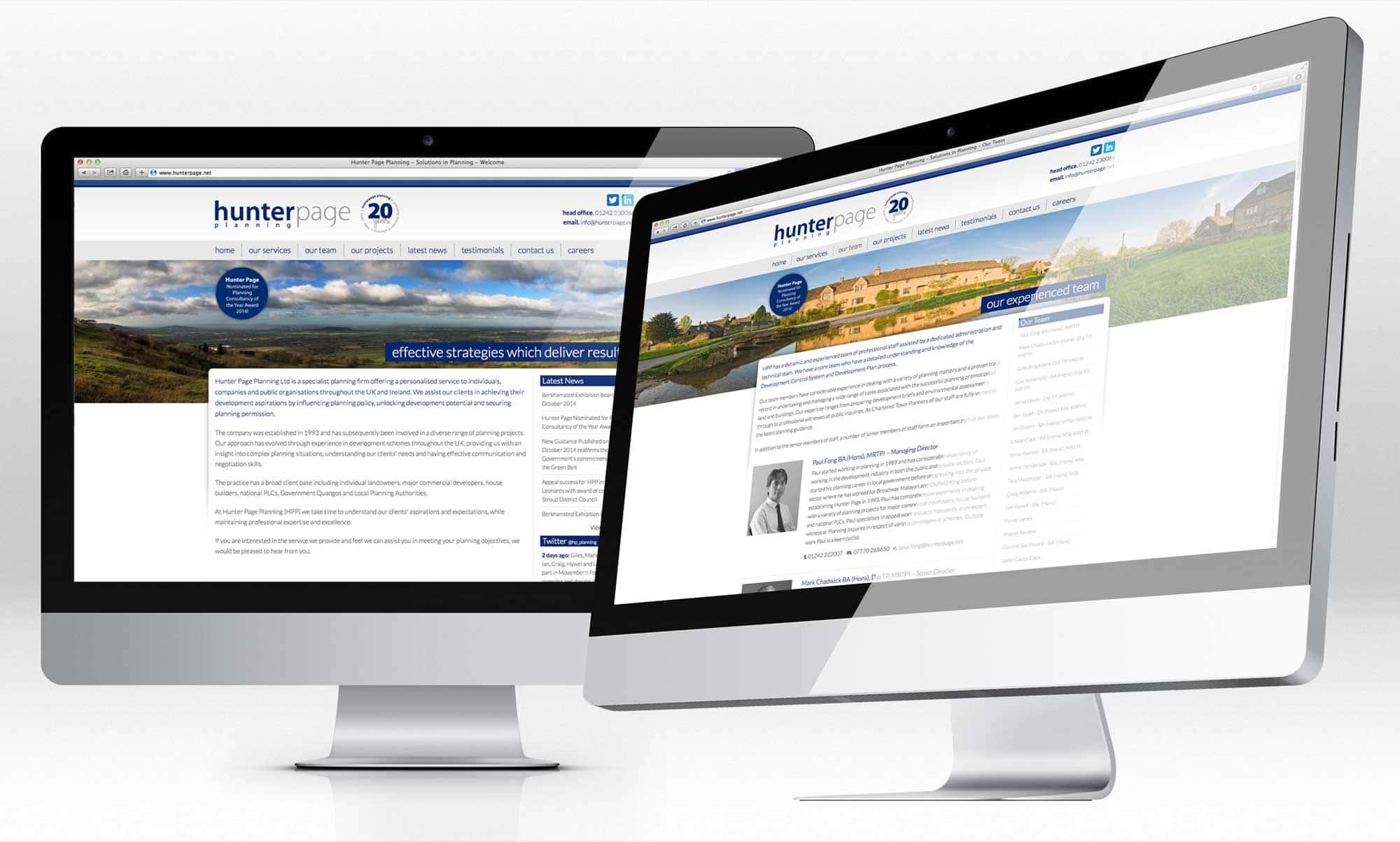 Hunter Page Planning Website