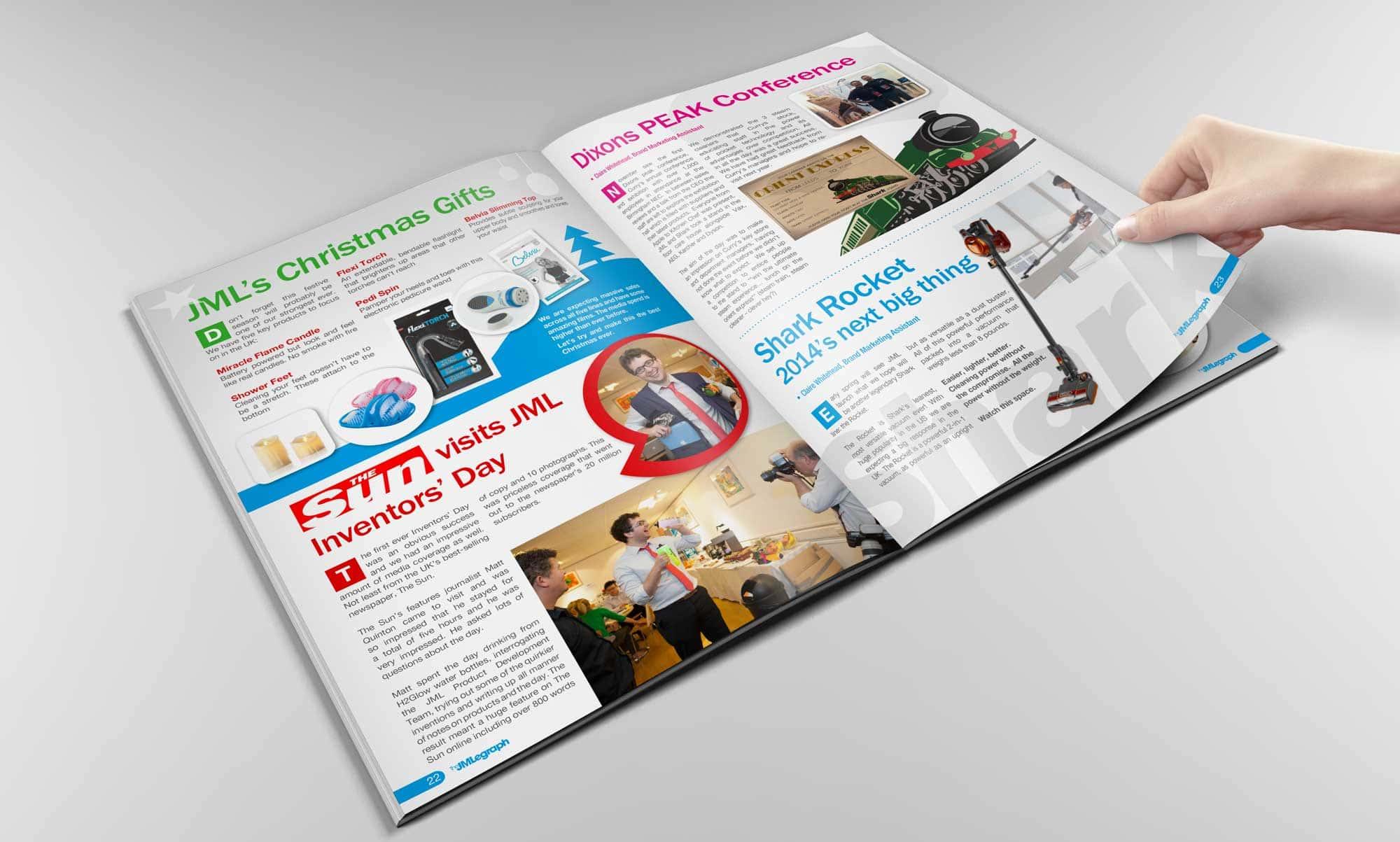 Internal Magazine Design - JML Direct